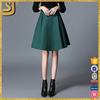 Wholesale Composite Cotton Pleated Women Hollow Out Lace Skirt