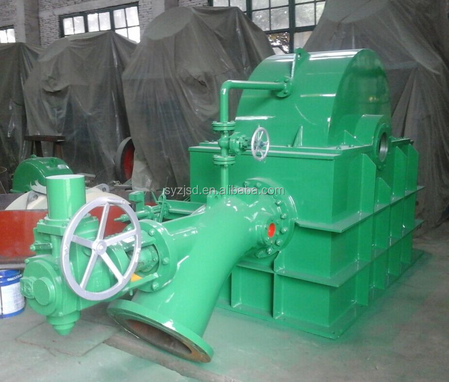 Pelton hydro turbine for river power plants , hydro turbine with water head 90m - 1200m, generator water wheel