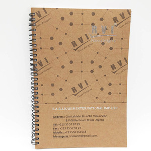 custom design a5 kraft recycled paper notebook