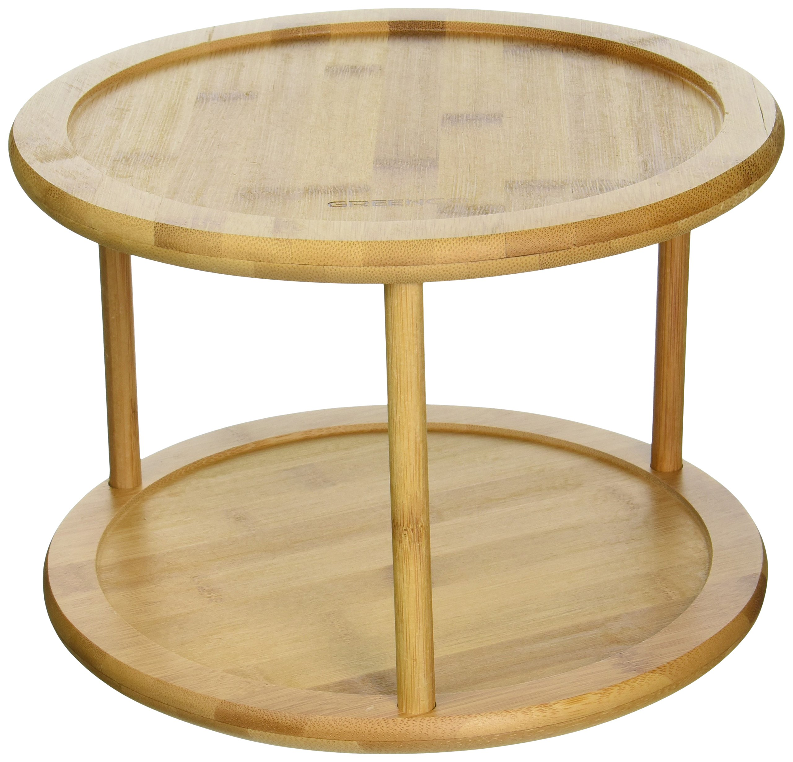 Get Quotations Greenco Premium Bamboo 2 Tier Lazy Susan Turntable