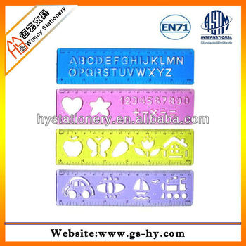 custom stencil ruler arabic letters stencil template drawing for school