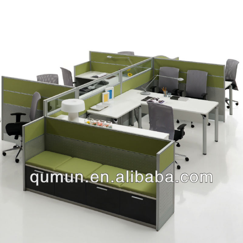 China manufactuter office staff workstation and partition with screen