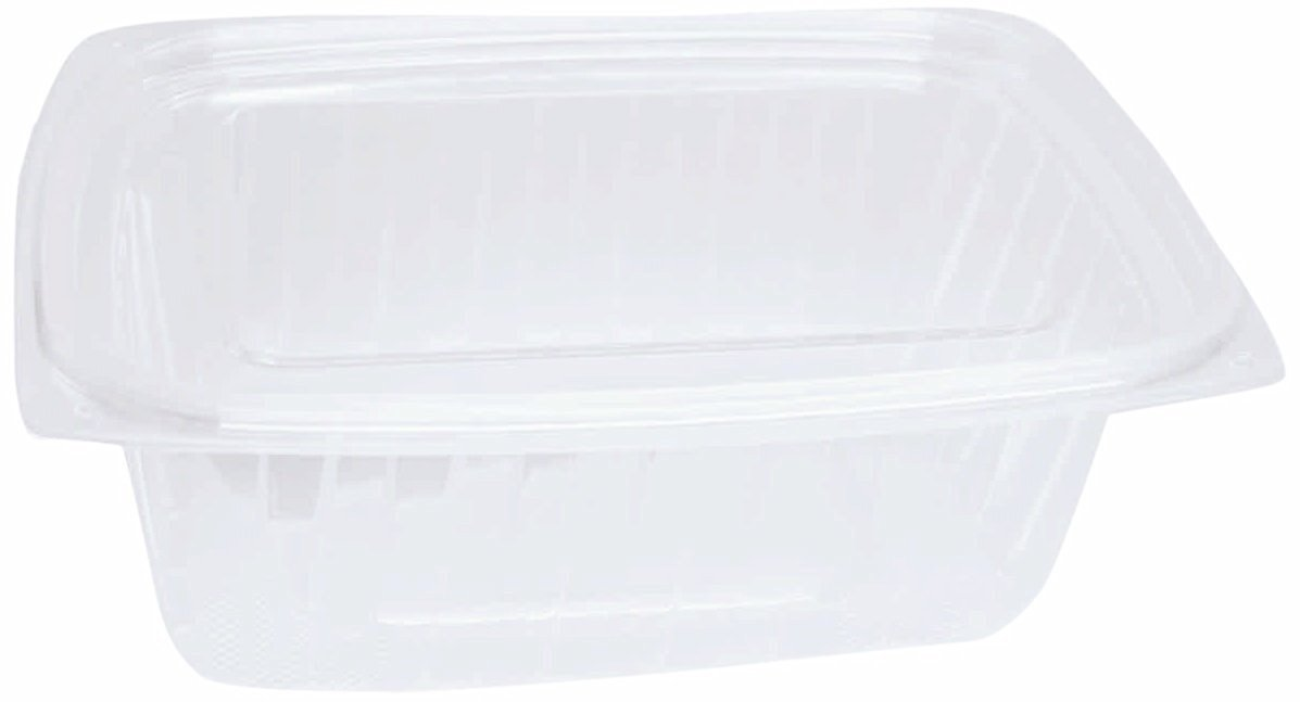 """Choice-Pac L1D-2016 Polyethylene Terephthalate Rectangular 2-Piece Cold Deli Container, 5-7/8"""" Length x 4-7/8"""" Width x 2-7/8"""" Height, Clear, 16-Ounce (Case of 500)"""