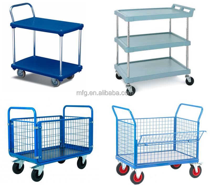 Deflect heavy duty platform carts trolley hand truck