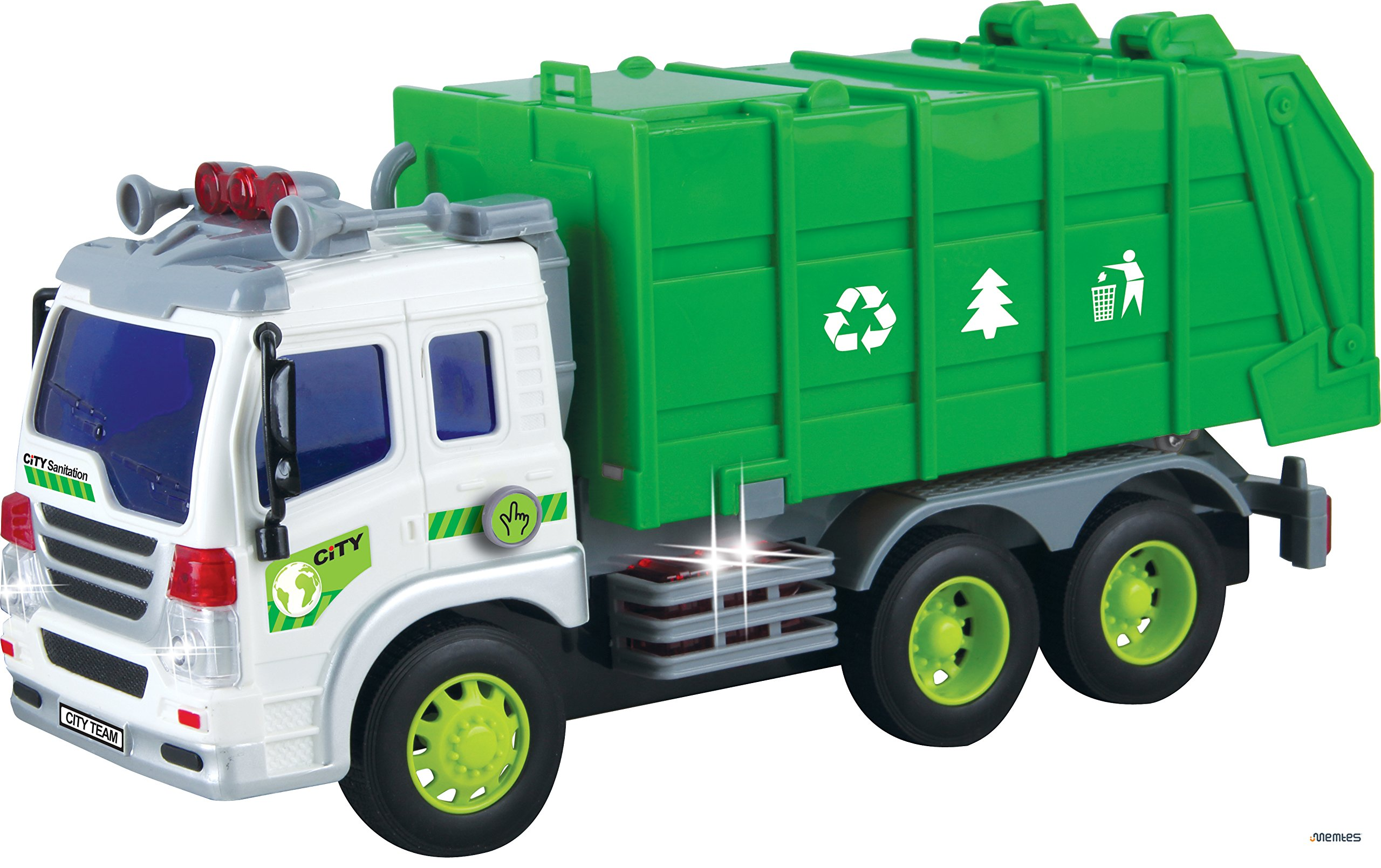 Buy Memtes Friction Powered Garbage Truck Toy With Lights And Sound For Kids