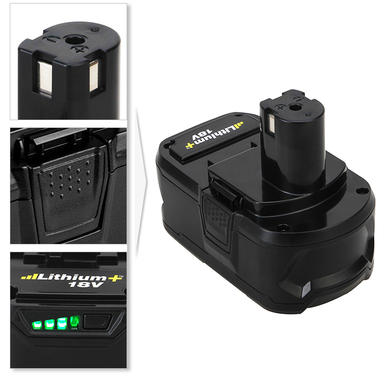Replacement Power Tool Lithium ion Battery for P108 Rechargeable Ryobi 18V 4.0Ah Battery