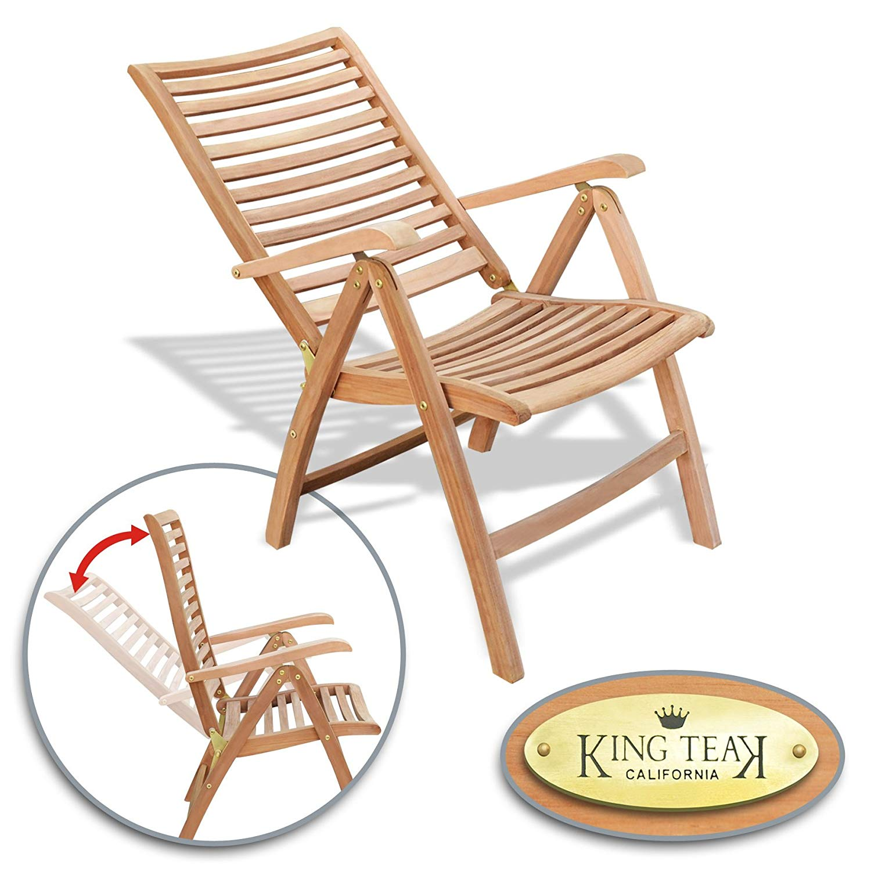 Strange Buy Benefitusa Reclining Folding Chair Teak Wood Patio Ibusinesslaw Wood Chair Design Ideas Ibusinesslaworg