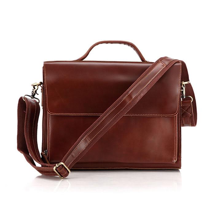 6033x Men Business Bag Minimalist Leather Messenger Bag