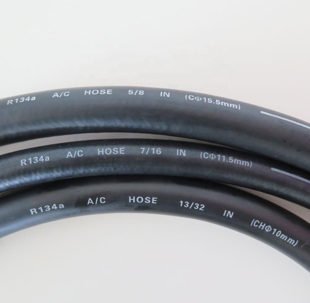 Yatai factory direct black smooth surface auto type a c d e air conditioning hose r134a r410 AC pipe 13/32 inch
