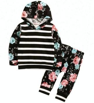 2018 nuevo 2 unids primavera otoño niños ropa Conjuntos Bebé niñas con ... 1efdff68084b