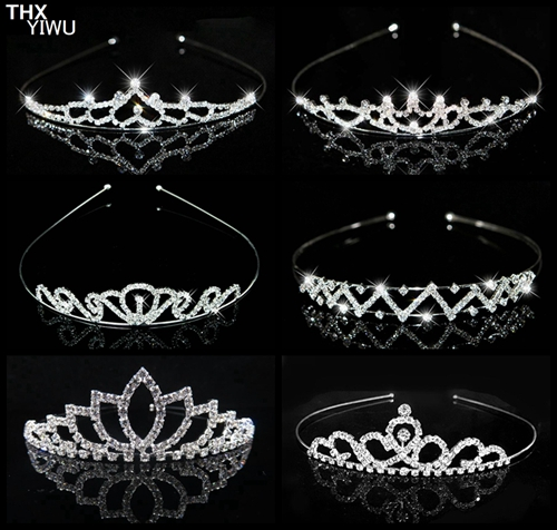 Clear Crystal Rhinestone <strong>Crown</strong> Hair Decoration Tiara Wedding Party Queen Winner Girl Gift