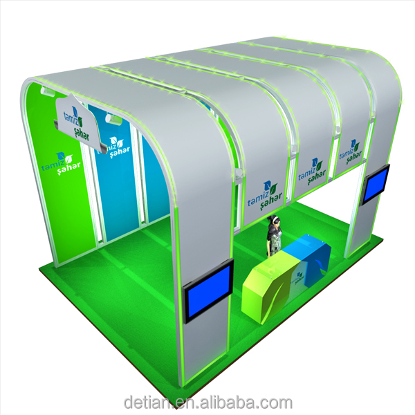Creative Booth Exhibition : Detian offer led lighting booth creative walk through exhibition