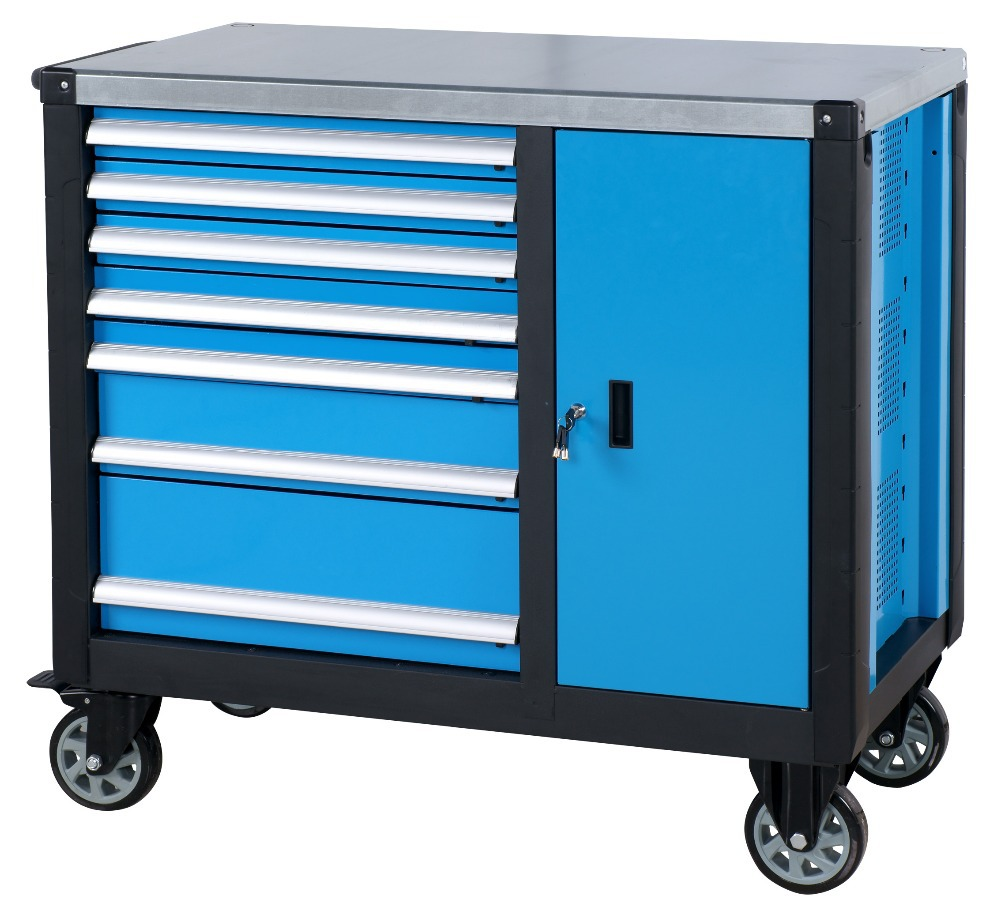 new design rolling tool chest stainless steel working bench / tool