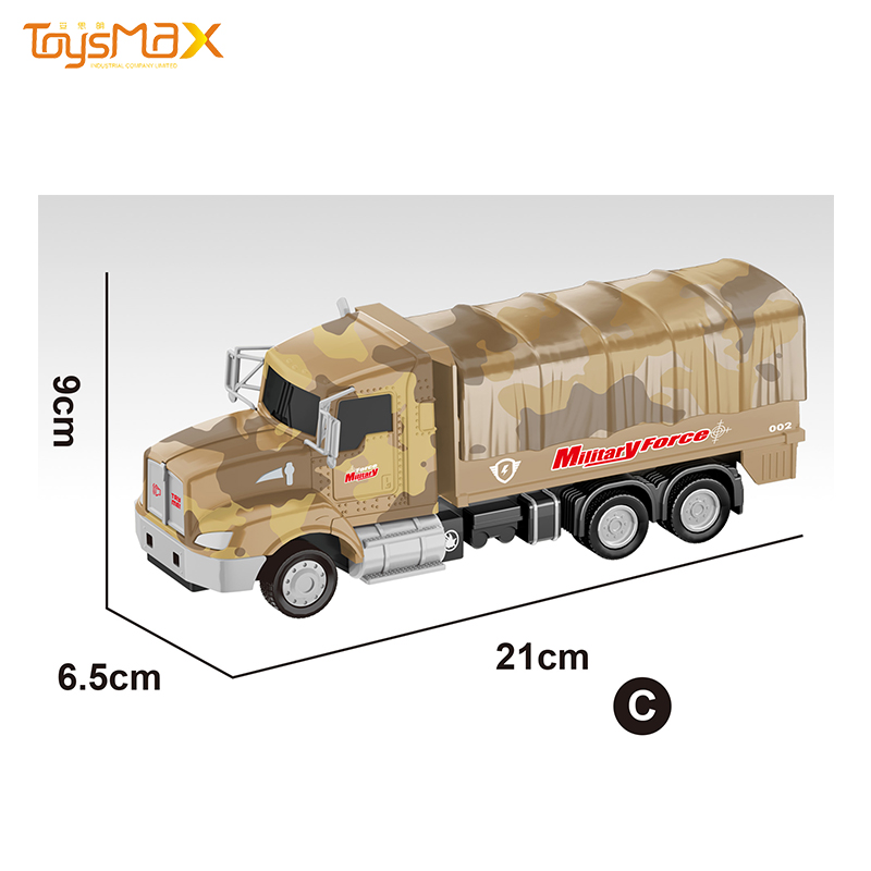 2019 New US 1:46 Scale Popular Pull Back Alloy Military Truck Toys Battery operated Die Cast Model Truck