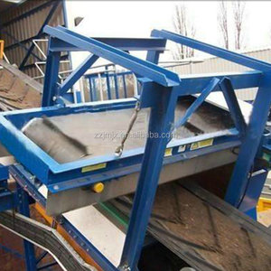 Suspended Self-cleaning Iron Cross Belt Magnetic Separator For MSW Waste Recycling Machinery