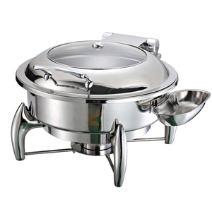 stainless steel food warmer hydraulic chafing dish