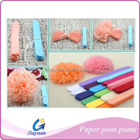 Cheap tissue paper pompoms paper flower