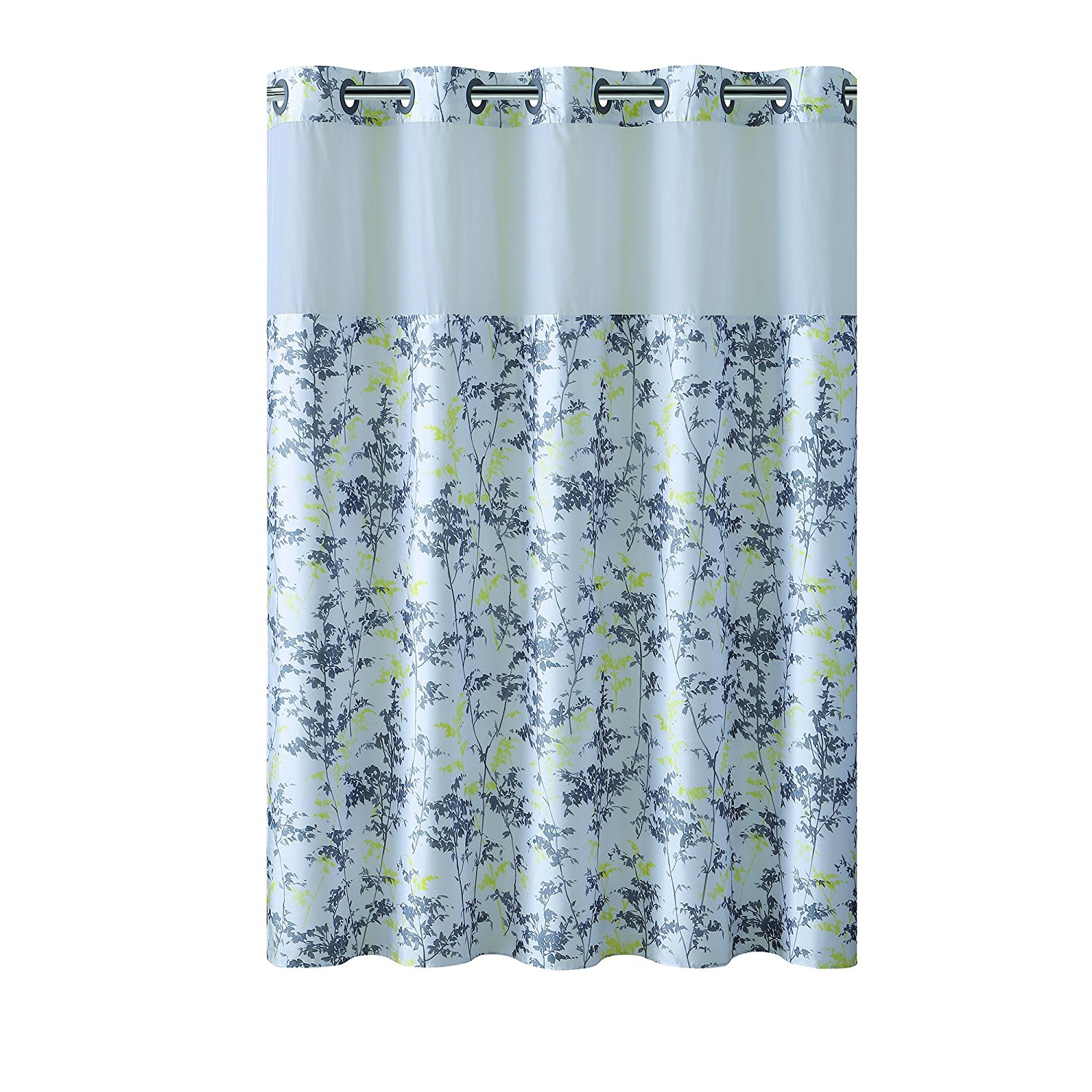 Get Quotations Hookless Floral Leaves PEVA Lined Shower Curtain