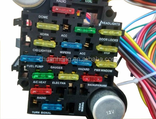 21 circuit fuse box wiring harness for chevy mopar ford hotrods 21 circuit fuse box wiring harness for chevy mopar ford hotrods universal extra long wires