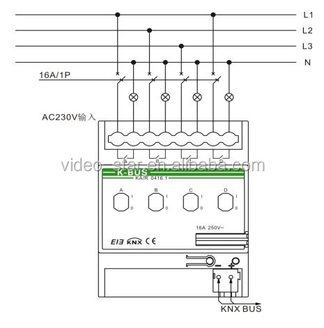 Switch Actuator 4 Fold Knx Intelligent Home And Building