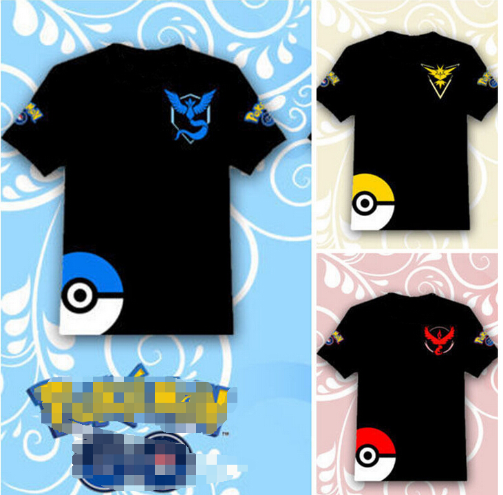 China factory sales onenweb Printing Pokemon Go T shirt