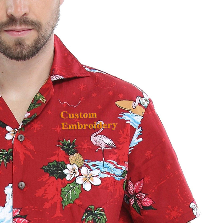 f8ca2c57 Get Quotations · Hawaii Hangover Men's Hawaiian Shirt Aloha Shirt Christmas  Shirt Santa Red