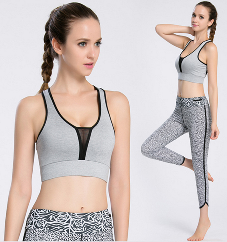 Girl popular waterproof and moisture wicking cheap ladies sexy yoga sport bras