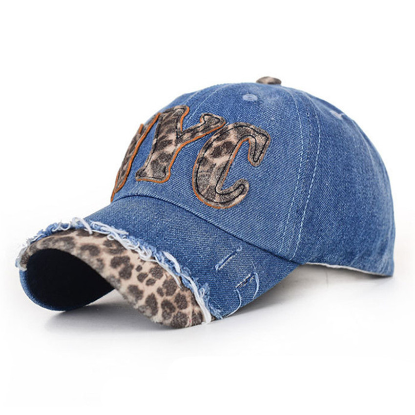 New Arrivals Baseball Snapback Letter Womens Leopard Cowboy Summer Hip-hop  Hats Sunbonnet Outdoor Cotton c65d80237d5f