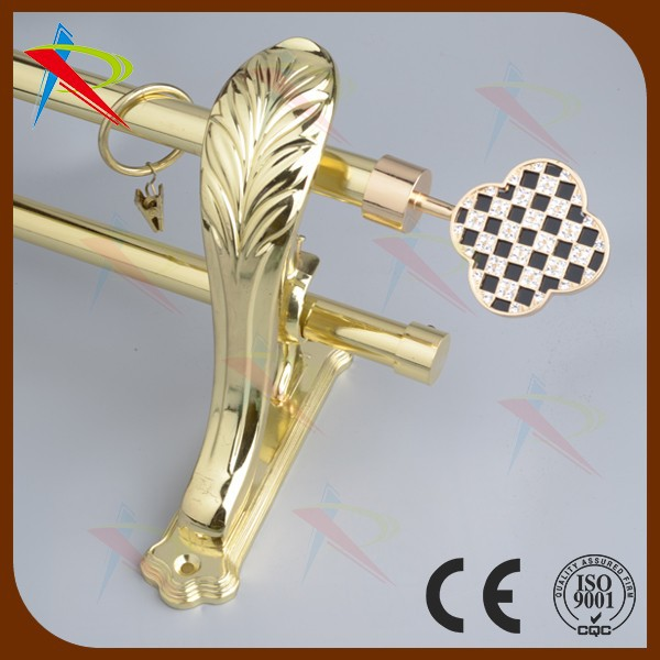 2015 new wholesale design zinc alloy fashion dual curtain rods