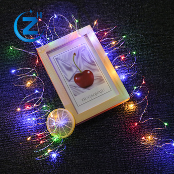 waterproof christmas light chain color changing battery operated led copper wire fairy light