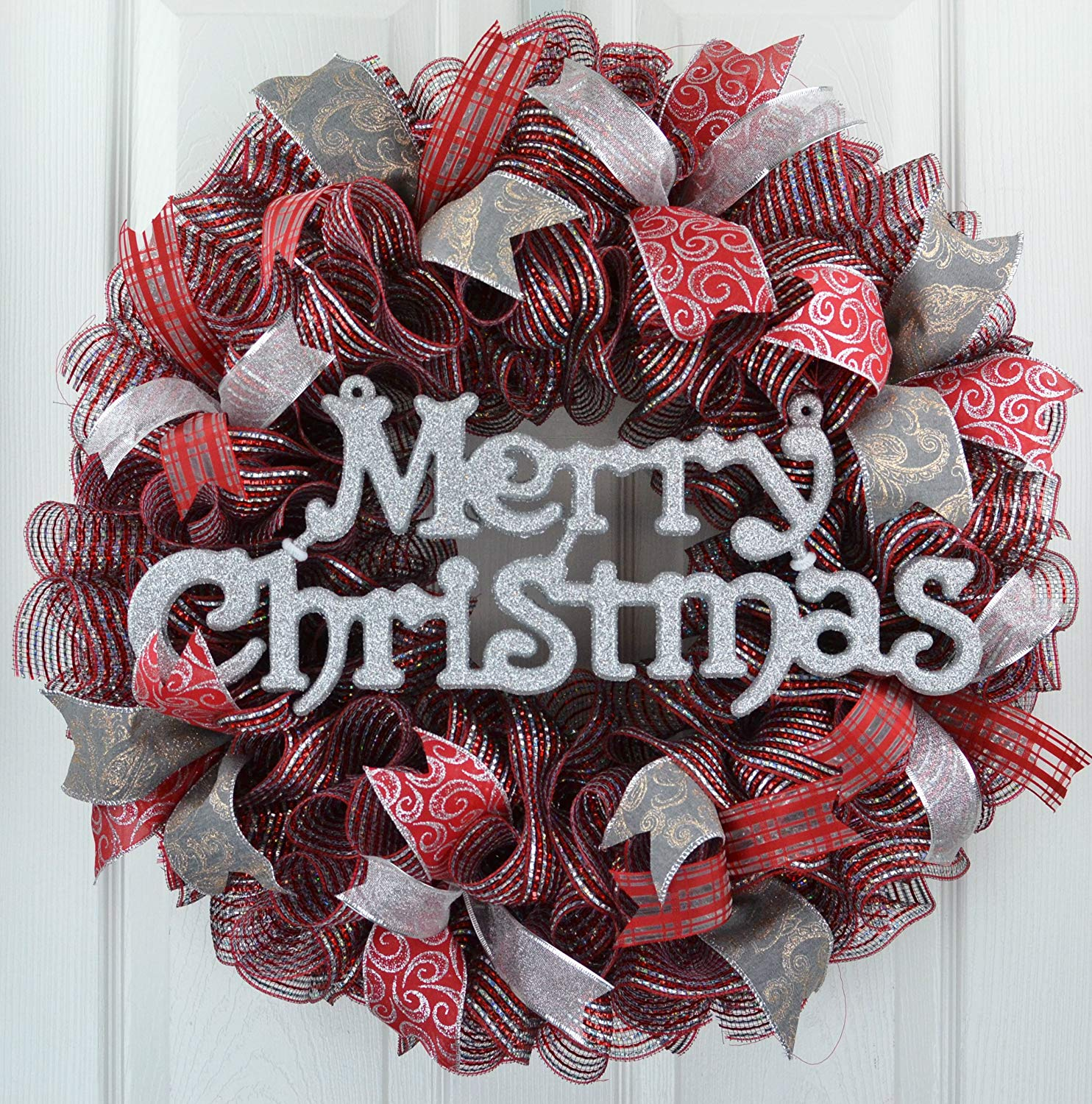 Christmas Ribbon Wreaths.Cheap Christmas Mesh Ribbon Wreath Find Christmas Mesh