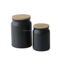 Eco-Friendly large container storage spice jars wholesale ceramic canister sets