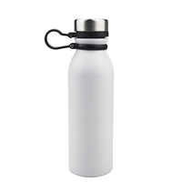Amazon White Double Metal Logo Printed Vacuum Insulated Sublimation Bpa Free Stainless Steel Drink Custom Sports Water Bottle