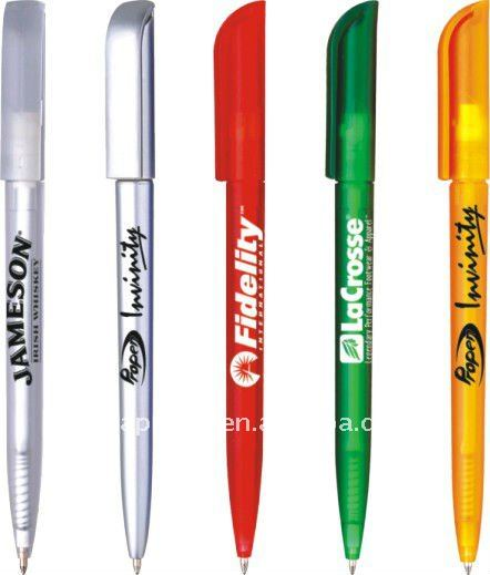 advertising logo branded plastic gift pen