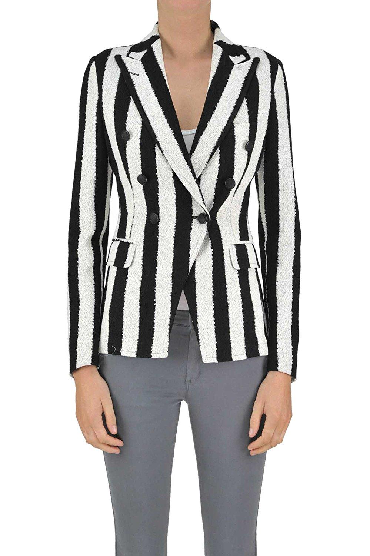 TAGLIATORE Women's MCGLCSG03059E Multicolor Cotton Blazer