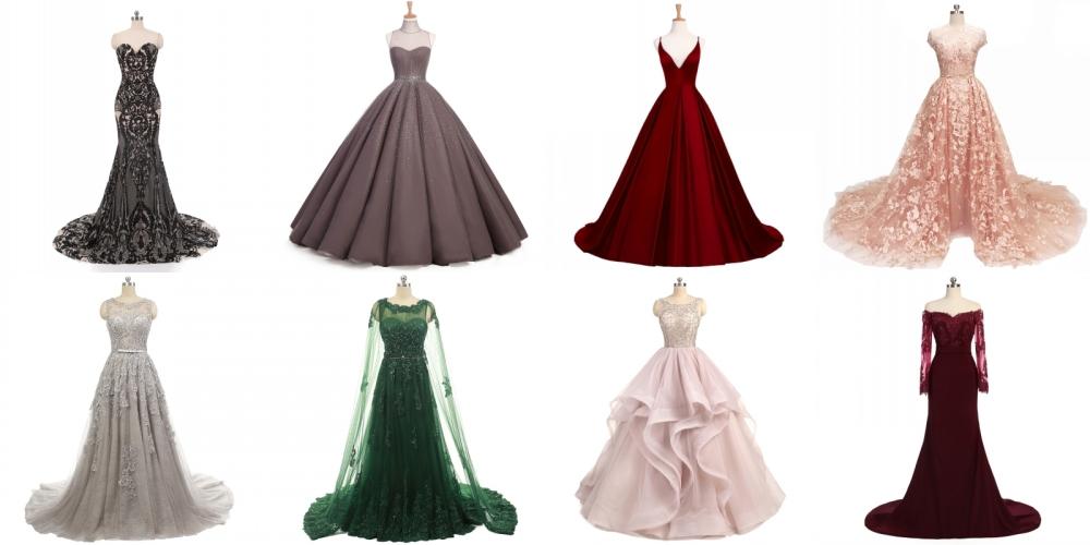 Desain Terbaru Gaun Malam Merah Tulle Berlapis Formal Gaun Malam Gaun YASA-307