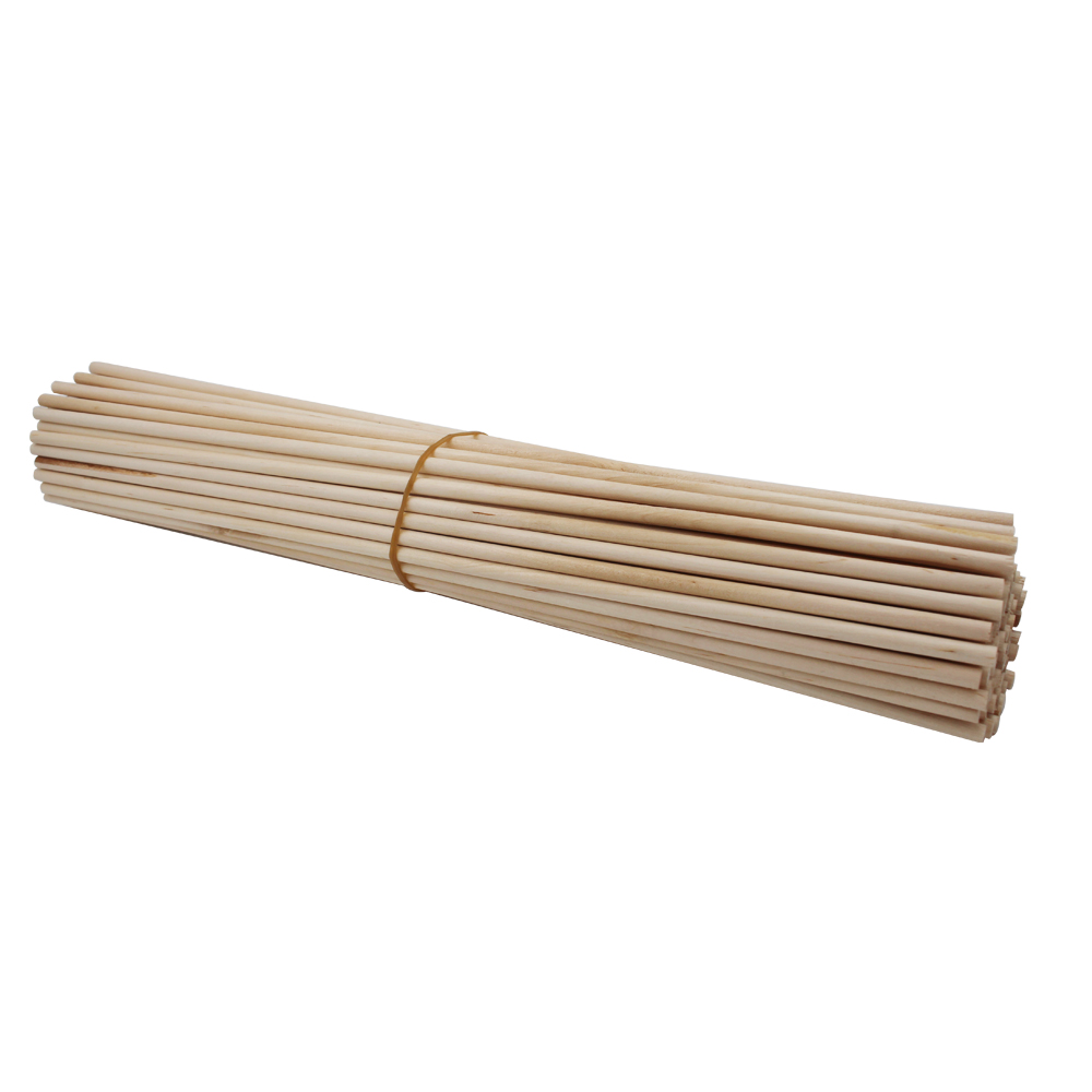 2018 new product disposable wooden round stick 3mm wooden dowels