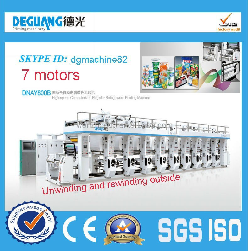 Factory supply low price computerized gravure printing machine