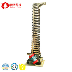 Air blower plastic pellet cooling conveyor machine