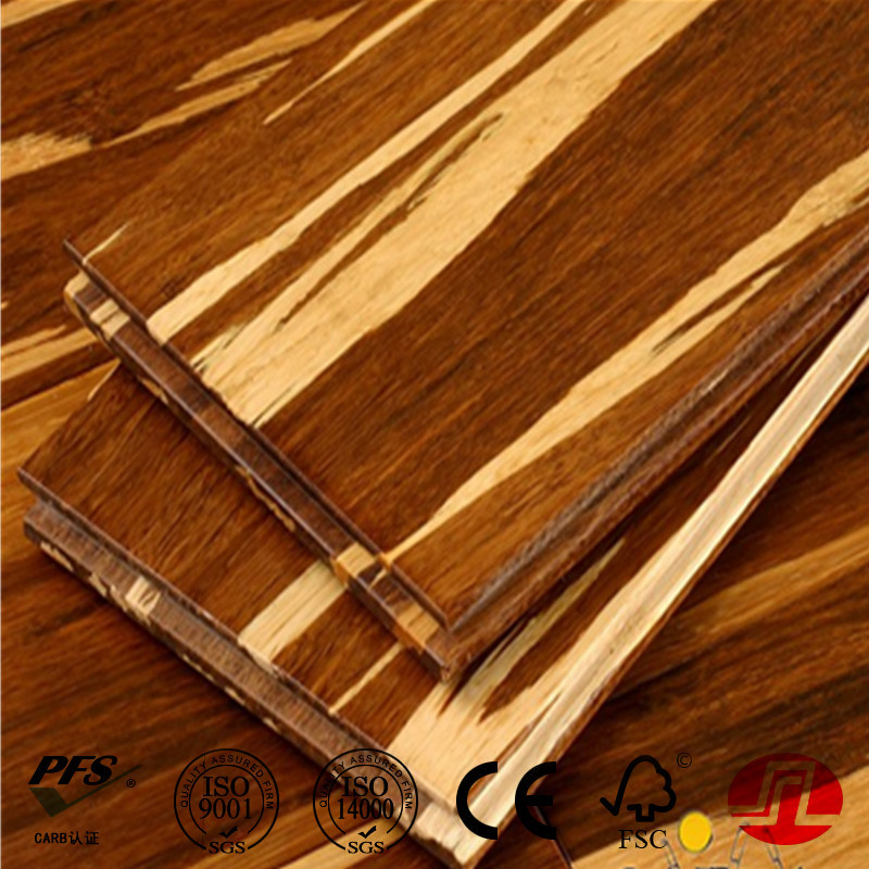 Tiger Color Click Strand Woven Bamboo Flooring
