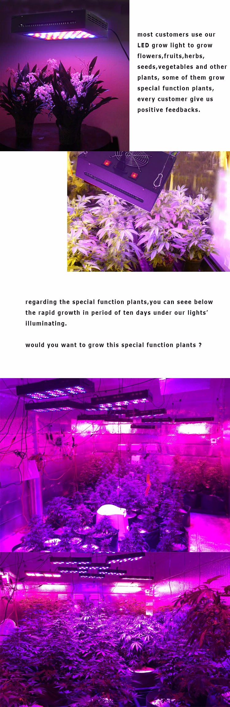2017 Wholesale Wide Coverage 1600w Led Grow Light Hydroponic