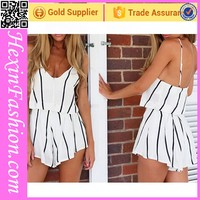 Deep V-Neck Wholesale Women Rompers Clubwear