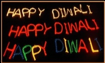 Happy Diwali Sign Light