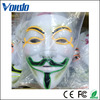 PVC material colorful One Size LED Ghost Masks V Shape Face Halloween Mask