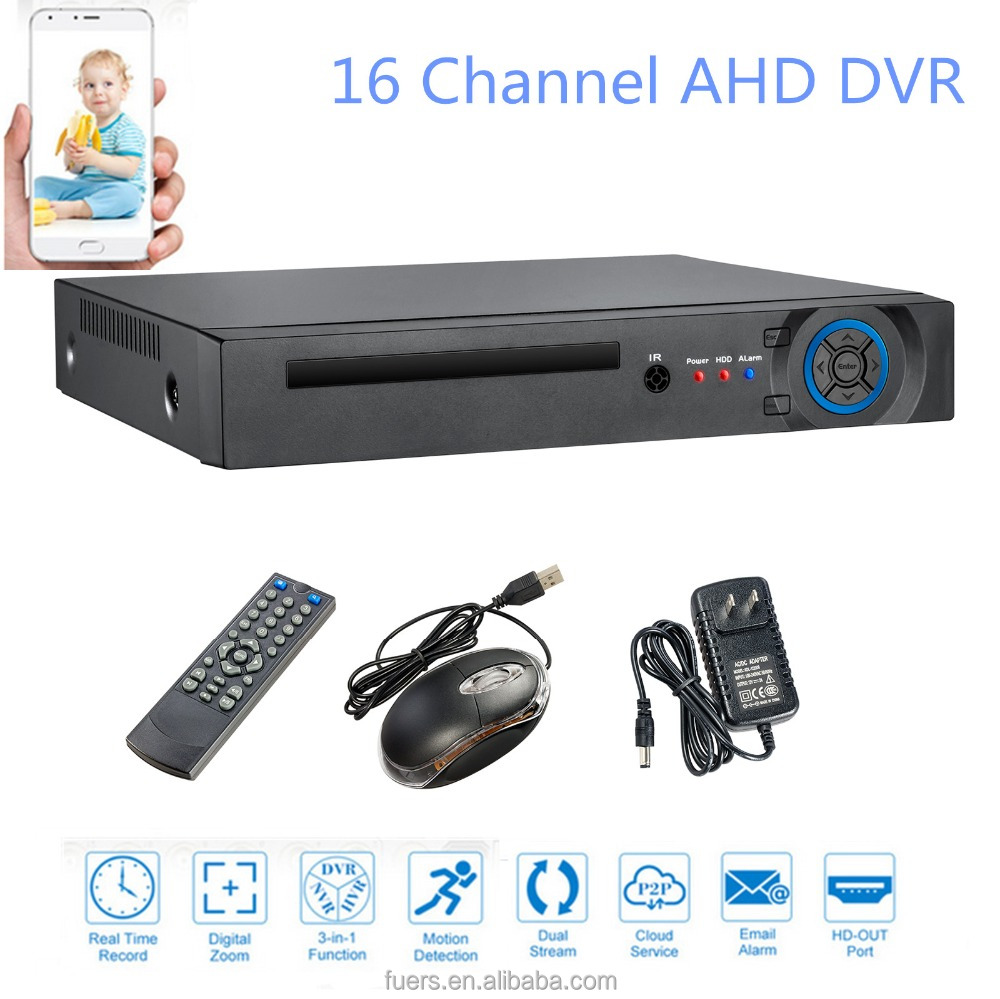 New BEST 16CH AHD DVR para Câmera HD AHD CCTV Rede IP Camara Multilanguage Gravador de Vídeo Digital