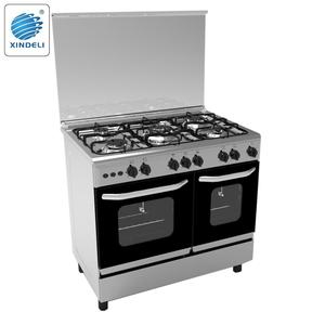 Portable 90*60 freestanding gas oven double oven