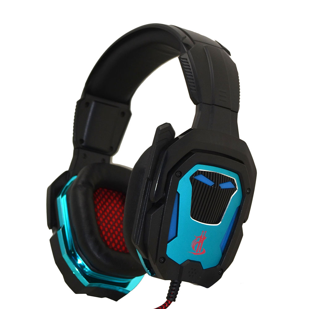 Wholesale factory design fashion stereo best selling 7.1 sound LED gaming headsets