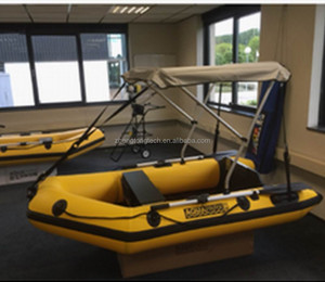 Inflatable Boat With Bimini Top, Inflatable Boat With Bimini
