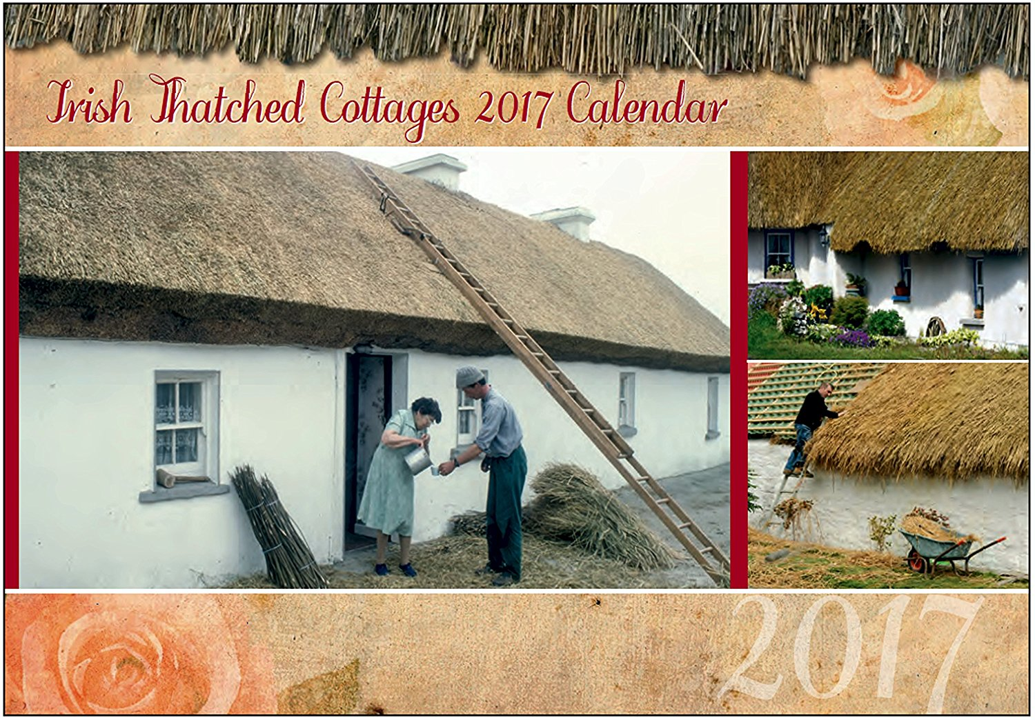 Irish Thatched Cottages wall Calendar 2017 - Made in Ireland