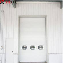 Factory provide steel aircraft hangar industrial sectional overhead door